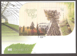 100th Of Järvselja Forest Protection Area Estonia 2021  Sheet FDC Mi BL53 - Trees