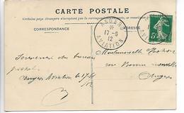 Aviation ANGERS Maine Et Loire RARE Cachet ANGERS AVIATION INDICE 22 1912 Cpa Scènes Des P.T.T.     ..G - Air Post