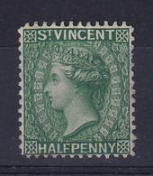 St Vincent: 1885/93   QV    SG47     ½d   Green   MH - St.Vincent (...-1979)