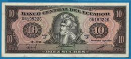 ECUADOR 10 SUCRES 22.11.1988 # LP 05199226  P# 121 Sebastián De Benalcazar - Ecuador