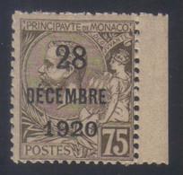 Monaco Baptême De La Princesse Antoinette  75 C. Brun-olive Sur Chamois  N° 49** Neuf - Ongebruikt