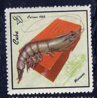 CUBA - Faune, Coq, Crevette, Poisson - N° 1213-1215 - MNH - 1968 - Unused Stamps