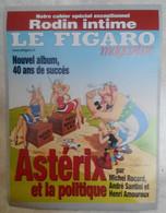 AFFICHE LE FIGARO MAGAZINE ASTERIX ET LA POLITIQUE UDERZO OBELIX IDEFIX 2001 - Posters