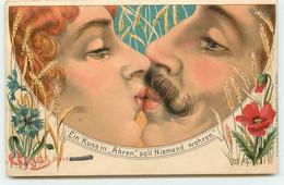 N°17499 - Ein Kuss In Ahren Soll Niemand Wehren - Couple S'embrassant - Baiser - Coquelicot - Altri