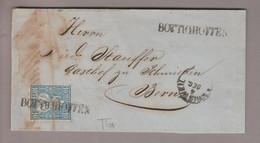 CH Heimat TG Bottighofen 1865-12-06 Langstempel Auf Brief Nach Bern Mit 10 Rp. Blau Sitzende H. - Covers & Documents