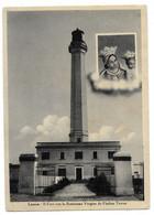 Leuca (Lecce). Il Faro Con La Santissima Vergine De Finibus Terrae. - Lecce