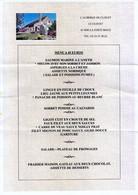 61 - LA FERTE-MACE - MENU DU RESTAURANT  DE L'AUBERGE DU CLOUET - Menus