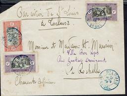 Sénégal - Affranchissement à 2,25 F Sur Enveloppe De St Louis Du 12 Juin 1925 Pour La Rochelle (Fr) - Covers & Documents