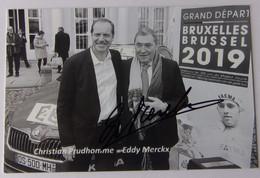 Eddy MERCKX - Signé De - Dédicace - Hand Signed - Autographe Authentique - Cycling