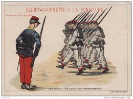 B17- OLIBET GAUFETTE A LA CONFITURE - ILLUSTRATEUR JACQUES  GUILLAUME SALE SECTION - (CARTE PUB - MILITARIA - 2 SCANS) - Humoristiques