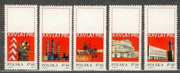 POLAND MNH ** 1781-1785 ANNIVERSAIRE DE LA REPUBLIQUE Douanier Chimie à Plock Théatre De - Unused Stamps