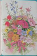 Petit Calendrier De Poche 1992 Fleurs Fleuriste Villeparisis Seine Et Marne - 3 Volets Horloge Des Fleurs - Small : 1991-00