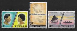 TUVALU * 1976 * Complete Set 3 Stamps * MNH** Separation - Mi.No 16-18 - Tuvalu (fr. Elliceinseln)