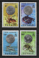TUVALU * 1976 * Complete Set 4 Stamps * MNH** New Coins - Mi.No 19-22 - Tuvalu (fr. Elliceinseln)