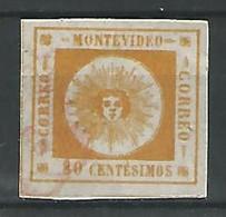 1859. URUGUAY. YV Nº 8 - Uruguay