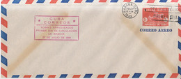 Año 1949   Sobre  SEA Filatelico Primer Dia Correo Aereo Matasellos Habana  Cuba - Airmail