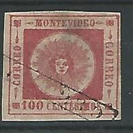 1859. URUGUAY. YV Nº 9. PEQUEÑA PELADURA - Uruguay
