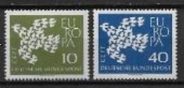 Allemagne 1961 Neufs ** N° 239/240 Europa - 1961