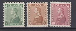 Iceland 1937 - Michel 187-189 Mint Hinged * - Ungebraucht