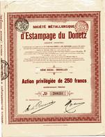 MÉTALLURGIQUE D'ESTAMPAGE Du DONETZ; Action De Capital - Russia