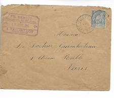 FAYL BILLOT Haute Marne CAD Type A Sans Dateur ! Sur 15c Sage 1891     ..G - 1877-1920: Semi Modern Period