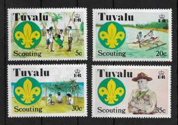 TUVALU * 1977 * Complete Set 4 Stamps * MNH** Scouting - Mi.No 50-53 - Tuvalu (fr. Elliceinseln)