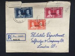 NIUE George VI 1937 Coronation Cover Registered Niue - Niue
