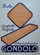 G 25 Facture/document Entete Biscuit Gondolo 2 Pièces - Publicidad