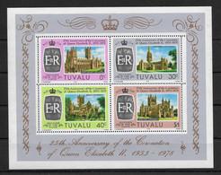 TUVALU * 1978 * M/Sheet (4 Stamps) * MNH** Silver Coronation - Mi.No BL 2 - Tuvalu (fr. Elliceinseln)