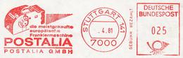 Freistempel Kleiner Ausschnitt 679 Postalia Frankiermaschine Handroller - Affrancature Meccaniche Rosse (EMA)