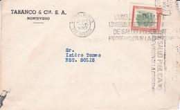 URUGUAY. TARANCO & CIA. COMMERCIAL COVER. CIRCULEE MONTEVIDEO A ESTACION SOLIS, AN 1957.- LILHU - Uruguay