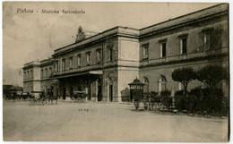 CARTOLINA STAZIONE FERROVIARIA PISTOIA - Pistoia
