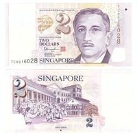 Singapore - 2 Dollars 2021 UNC P. 46 Lemberg-Zp - Singapore