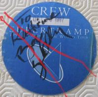 Ca7.w- Autocollant SUPERTRAMP Dédicace Original Signed BOB SIEBENBERG Rennes World 1997 - Autographs