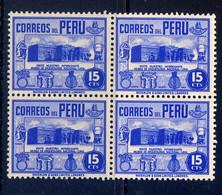 PERU, BLOCK OF 4, NO. 378, MNH - Peru