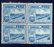 PERU, BLOCK OF 4, NO. 380, MNH - Peru