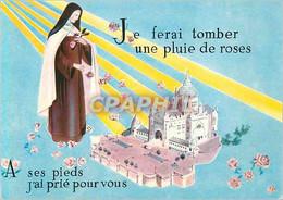 CPM Lisieux (Calvados) Je Ferai Tomber Une Pluie De Roses A Ses Pieds J'ai Prie Pour Vous - Lisieux