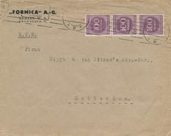 Deutsches Reich - 1923 - 3x 100 = 300 Mark Franking On International Cover From Berlin To Rotterdam / Nederland - Storia Postale