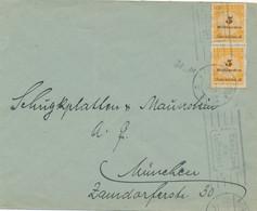 Deutsches Reich - 1923 - 2x 5 Mrd = 10 Mrd Mark Franking On Local Cover München - Storia Postale