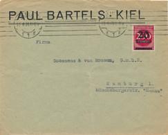 Deutsches Reich - 1923 - 20.000 Mark Franking On Inland Cover From Kiel To Hamburg - Storia Postale