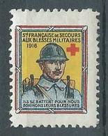 France Vignette Société Française De Secours Aux Blessés Militaires 1916 Croix-Rouge Neuf/charnière * - Vignette Militari