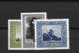 1951 MNH Liechtenstein Mi 301-3 Postfris** - Unused Stamps
