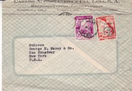 PERU. CARLOS CASTAÑEDA Y CIA, IMPORTADOR. COMMERCIAL COVER. CIRCULEE LIMA A NEW YORK, CIRCA 1930's.- LILHU - Peru