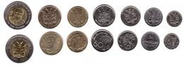 Namibia - Set 7 Coins 5 5 10 50 Cents 1 5 10 Dollars 2010 - 2015 UNC Lemberg-Zp - Namibia