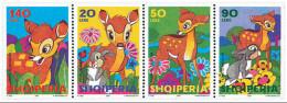 Albania Stamps 2002. BAMBI - Animated Cartoon, Film, Movies. Set MNH.  Michel 2858-61 - Albania