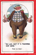 EH LAD BUT IT'S THUMBS UP HERE         CIGAR   SMOKING  COMIC HUMOUR INTER ART SERIES - Humor