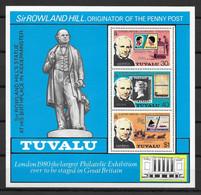 TUVALU * 1979 * M/Sheet (3 Stamps) * MNH** Sir Rowland Hill - Mi.No BL3 - Tuvalu (fr. Elliceinseln)
