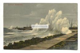 Colombo Breakwater, Rough Sea - 1910 Used Ceylon Postcard - Sri Lanka (Ceylon)