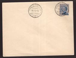 Egeo Rodi, 25 Centesimi Michetti Con Annullo Del 16 Gennaio 1913 Su Busta Non Viaggiata        -DM79 - Aegean (Rodi)