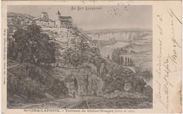U8-46) SAINT CIRQ LAPOPIE (LOT) TABLEAU DE DIDIER POUGET (SALON DE 1901) - (2 SCANS) - Otros Municipios